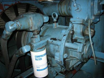 50 Hp Fuller Davey Mdl 50baq 200 250 Cfm Compressor