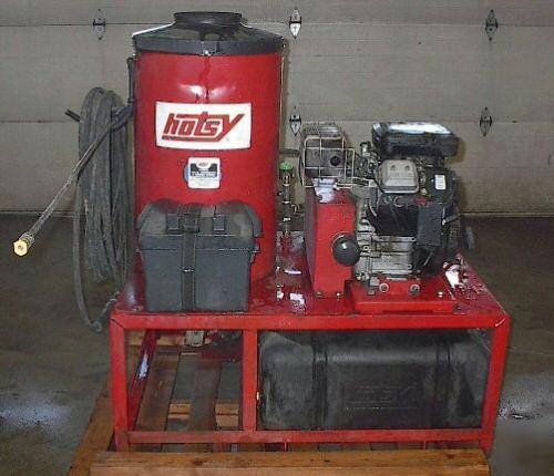 Pressure Washer Gun >> Hotsy 1260 used portable gas driven hot pressure washer
