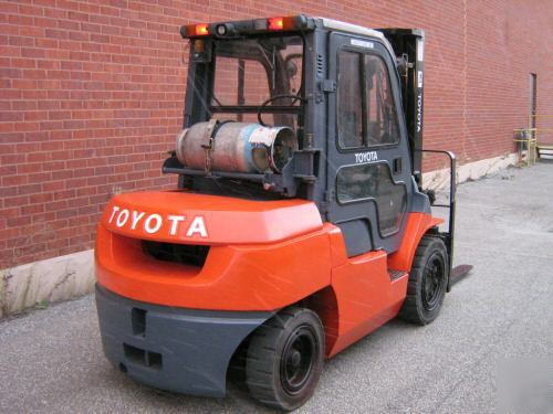 Used Tires Des Moines >> Toyota 8000 lbs forklift lpg fork lift truck outdoor