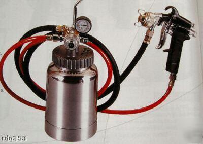 2 Litre Paint Tank With Air Spray Gun Compressor