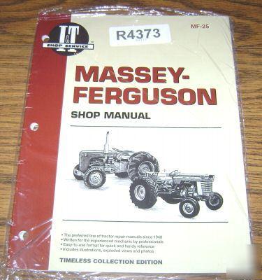Massey ferguson MF25 & MF130 tractor i&t shop manual mf