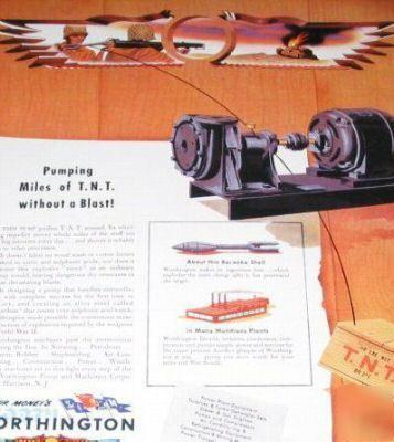 Worthington pumps WW2 tnt-explosives production-1944 ad