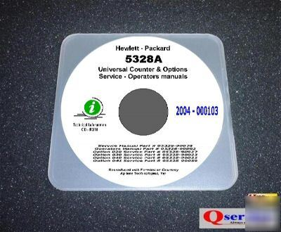 Hp 5328A + options 020+030+040+041 service-ops manuals