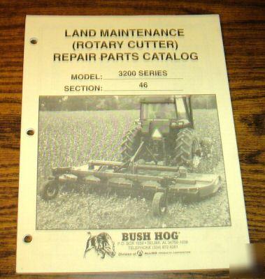 Bush Hog 3200 Series Rotary Cutter Mower Parts Catalog