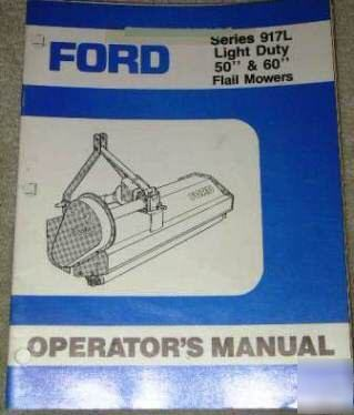 ford  flail mower manual