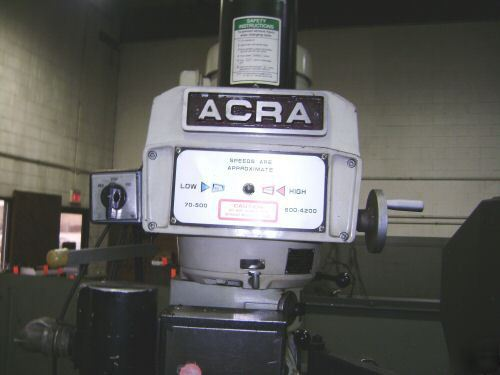 Acra 3 axis servo cnc mill 10X54 kurt power bar milling