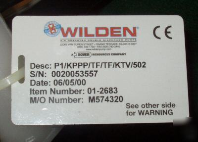 New , wilden P1 plastic pump, 1/2