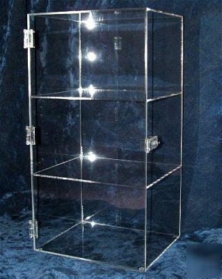 New Acrylic Plexiglass Display Case 3 Shelf 24 Quot Tall