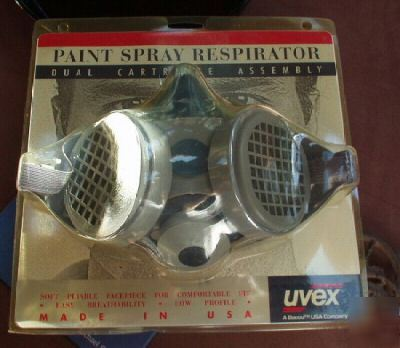 paint spray respirator by uvex, a bacou usa co. unused