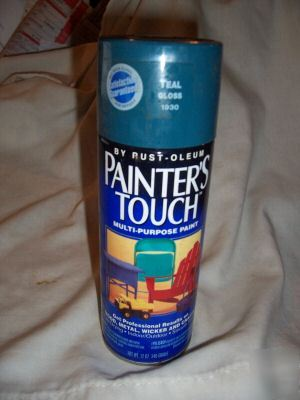 Painter 39 s touch rustoleum spray paint teal gloss 1930 Teal spray paint for metal