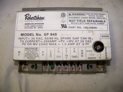 Robertshaw controls ignition module SP845 100-0834-11