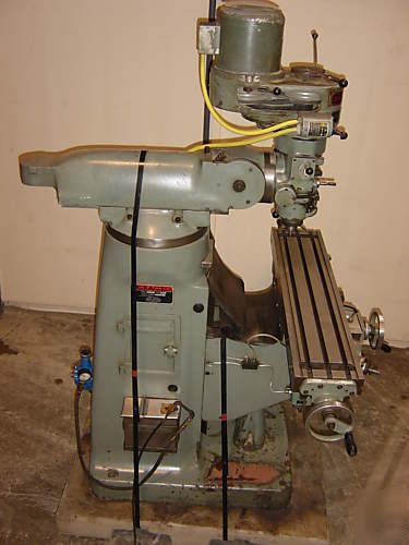 Exacto bridgeport style vertical turret knee mill power