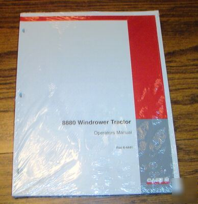 Case ih 8880 windrower tractor operator's manual