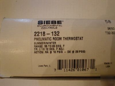 Siebe 2218-132 robertshaw pneumatic room thermostat