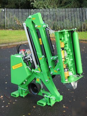 Hedge cutter flail mower for compact tractor